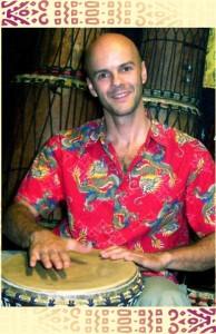 Rodolphe drumming